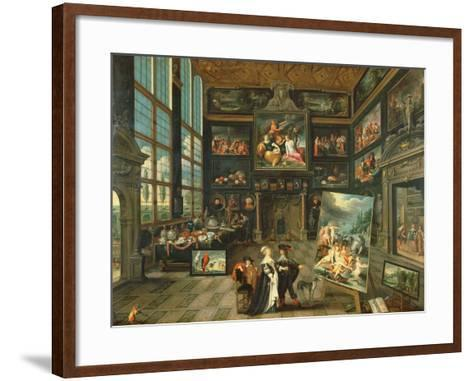 Interior of a Gallery, 1637-Cornelis de I Baellieur-Framed Art Print