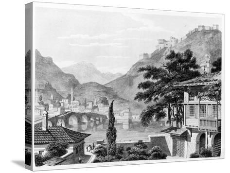 Town of Berat in Early 19th Century, from 'travels in Sicily, Greece and Albania' by Thomas Smart…-Charles Robert Cockerell-Stretched Canvas Print