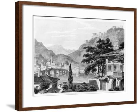 Town of Berat in Early 19th Century, from 'travels in Sicily, Greece and Albania' by Thomas Smart…-Charles Robert Cockerell-Framed Art Print