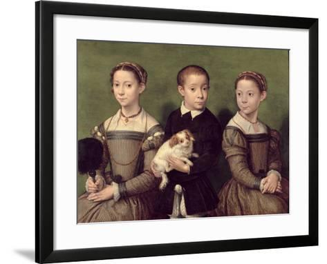 Two Sisters and a Brother of the Artist-Sofonisba Anguissola-Framed Art Print