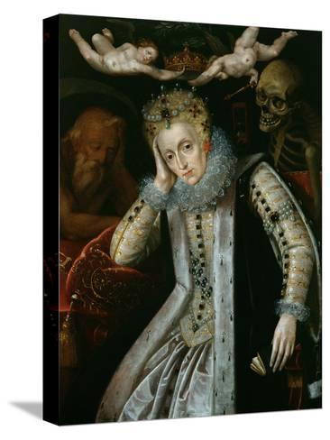 Queen Elizabeth I (1538-1603) in Old Age, C.1610--Stretched Canvas Print