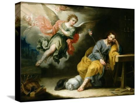 The Dream of St.Joseph-Domingo Martinez-Stretched Canvas Print