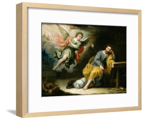The Dream of St.Joseph-Domingo Martinez-Framed Art Print