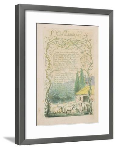 'The Lamb,' Plate 17 from 'Songs of Innocence,' 1789-William Blake-Framed Art Print