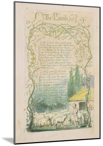 'The Lamb,' Plate 17 from 'Songs of Innocence,' 1789-William Blake-Mounted Giclee Print