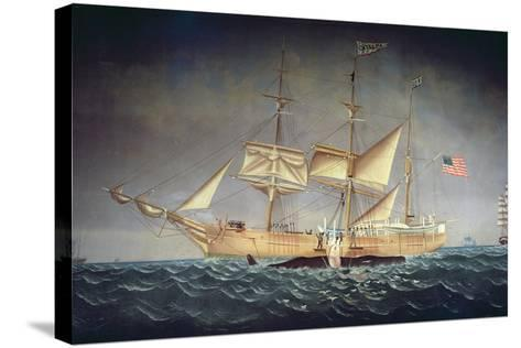 The 'Catalpa' with Whale-American School-Stretched Canvas Print