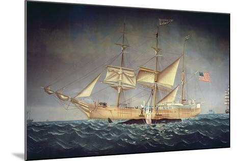 The 'Catalpa' with Whale-American School-Mounted Giclee Print