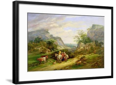 Landscape with Figures and Cattle-James Leakey-Framed Art Print