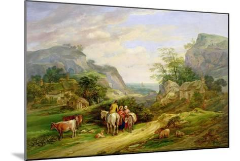 Landscape with Figures and Cattle-James Leakey-Mounted Giclee Print