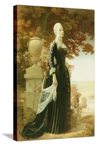 The Artists Wife-Robert Bateman-Stretched Canvas Print