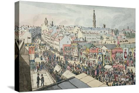Drawing of Glasgow Fair, from 'The Glasgow Looking Glass', 1825- Scottish School-Stretched Canvas Print