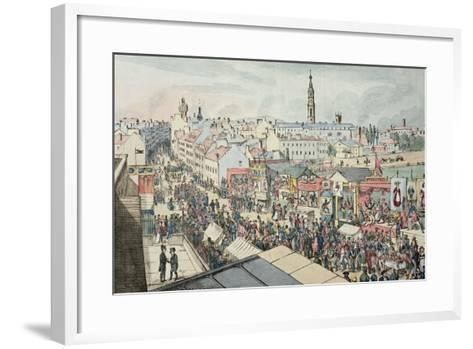 Drawing of Glasgow Fair, from 'The Glasgow Looking Glass', 1825- Scottish School-Framed Art Print