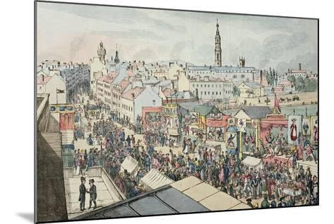 Drawing of Glasgow Fair, from 'The Glasgow Looking Glass', 1825- Scottish School-Mounted Giclee Print