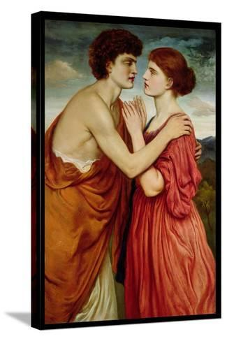 Isaac and Rebecca-Simeon Solomon-Stretched Canvas Print