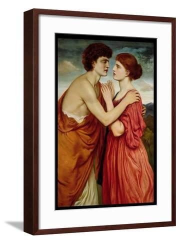 Isaac and Rebecca-Simeon Solomon-Framed Art Print