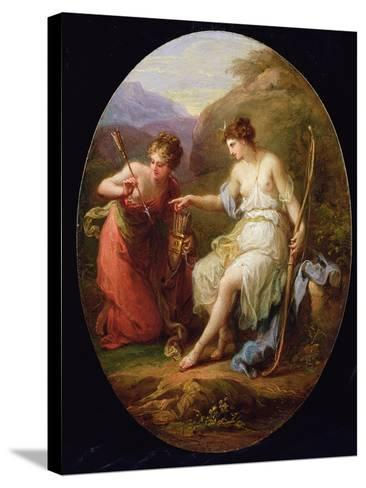 Diana Preparing for Hunting-Angelica Kauffmann-Stretched Canvas Print