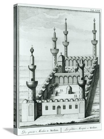 View of the Great Mosque at Medina before the Desecration of the Tombs by the Wahhabi Sect, from…--Stretched Canvas Print