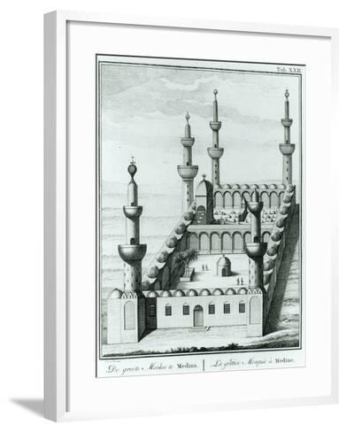 View of the Great Mosque at Medina before the Desecration of the Tombs by the Wahhabi Sect, from…--Framed Art Print