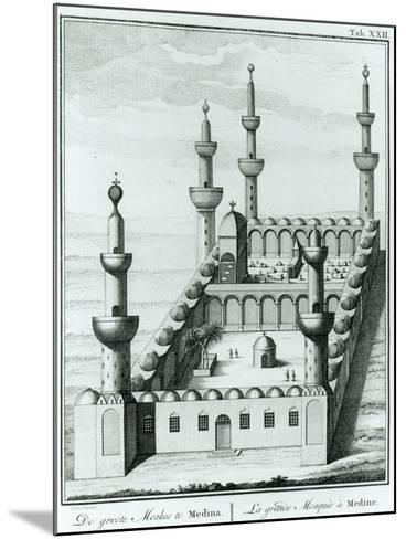 View of the Great Mosque at Medina before the Desecration of the Tombs by the Wahhabi Sect, from…--Mounted Giclee Print