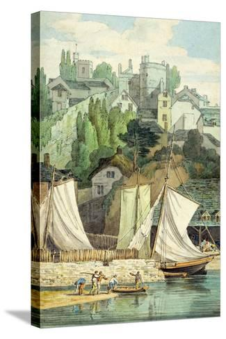 Near the Quay, Exeter-John White Abbott-Stretched Canvas Print