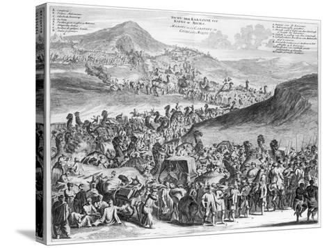 Hajj Caravan from Cairo to Mecca, from 'Description De L'Afrique' by O. Dapper, 1686--Stretched Canvas Print