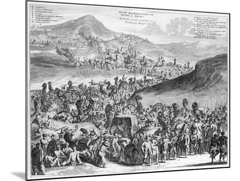 Hajj Caravan from Cairo to Mecca, from 'Description De L'Afrique' by O. Dapper, 1686--Mounted Giclee Print
