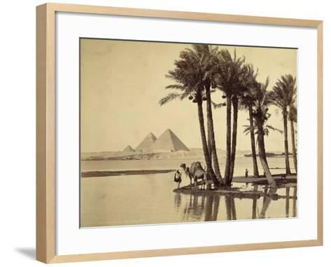 The Pyramids, 1860-69-G^ Lekegian-Framed Art Print