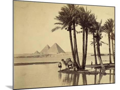 The Pyramids, 1860-69-G^ Lekegian-Mounted Photographic Print