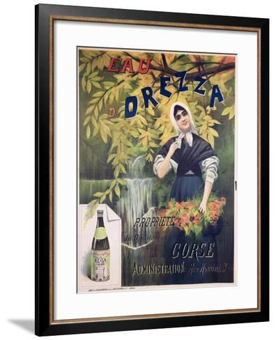 Poster Advertising 'Eau D'Orezza', Natural Mineral Water-P. Ribera-Framed Art Print