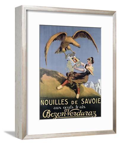 Poster Advertising Pasta Made by 'Bozon-Verduraz'-E^l^ Cousyn-Framed Art Print