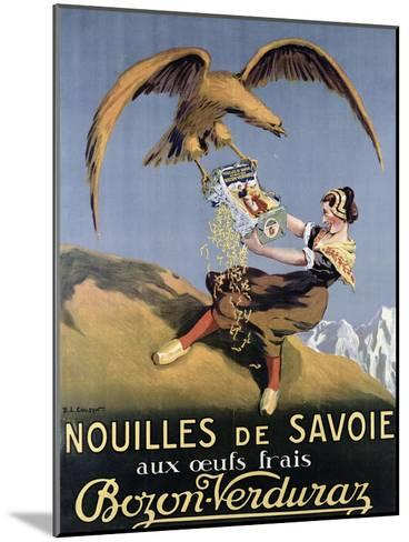 Poster Advertising Pasta Made by 'Bozon-Verduraz'-E^l^ Cousyn-Mounted Giclee Print