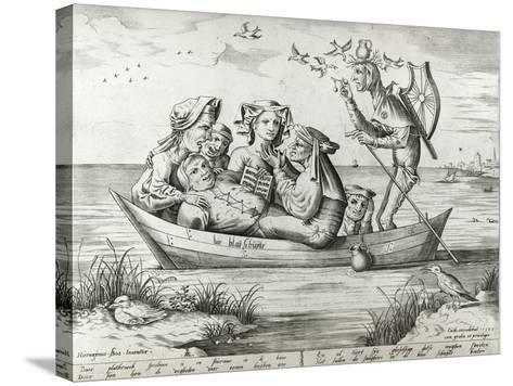 The Ship of Fools, Engraved by Pieter Ven Der Heyden, 1559-Hieronymus Bosch-Stretched Canvas Print