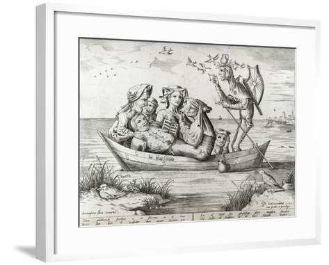 The Ship of Fools, Engraved by Pieter Ven Der Heyden, 1559-Hieronymus Bosch-Framed Art Print