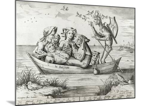 The Ship of Fools, Engraved by Pieter Ven Der Heyden, 1559-Hieronymus Bosch-Mounted Giclee Print