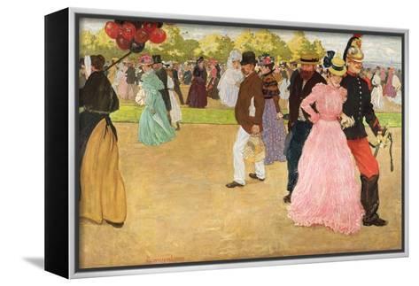 A Sunday Walk in the Bois De Boulogne, 1899-Henri Jacques Edouard Evenepoel-Framed Canvas Print