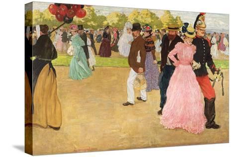A Sunday Walk in the Bois De Boulogne, 1899-Henri Jacques Edouard Evenepoel-Stretched Canvas Print