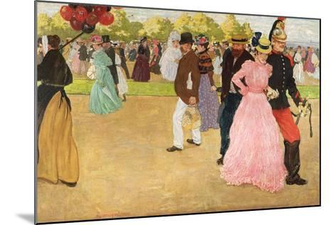 A Sunday Walk in the Bois De Boulogne, 1899-Henri Jacques Edouard Evenepoel-Mounted Giclee Print