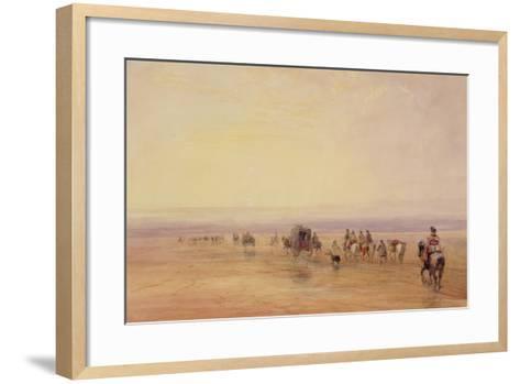On Lancaster Sands, Sunset (Crossing Lancaster Sands) C.1835-David Cox-Framed Art Print
