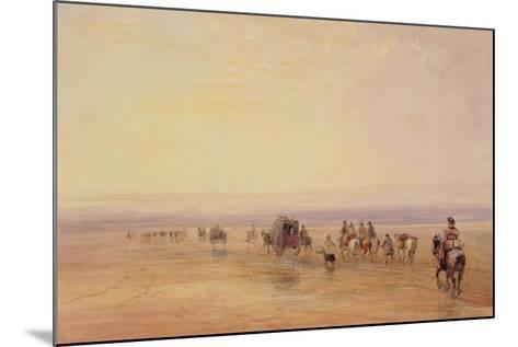 On Lancaster Sands, Sunset (Crossing Lancaster Sands) C.1835-David Cox-Mounted Giclee Print