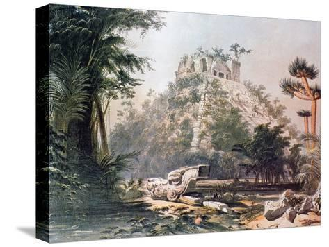 View of El Castillo, 1844-Frederick Catherwood-Stretched Canvas Print