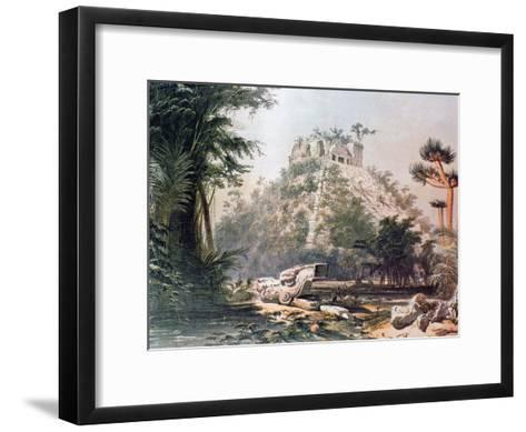 View of El Castillo, 1844-Frederick Catherwood-Framed Art Print