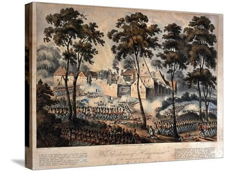 The Exterior of Hougoumont at the Commencement of the Battle of Waterloo, 18th June 1815,…--Stretched Canvas Print