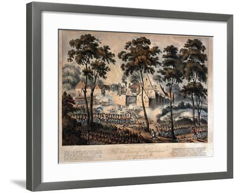 The Exterior of Hougoumont at the Commencement of the Battle of Waterloo, 18th June 1815,…--Framed Art Print