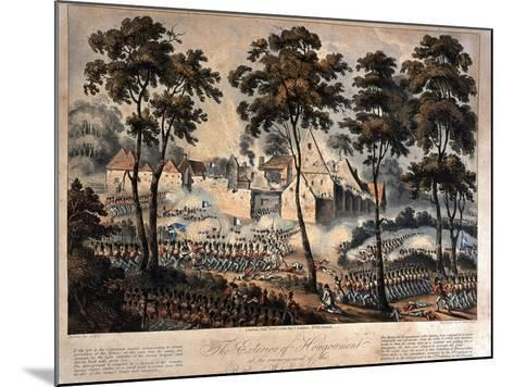 The Exterior of Hougoumont at the Commencement of the Battle of Waterloo, 18th June 1815,…--Mounted Giclee Print
