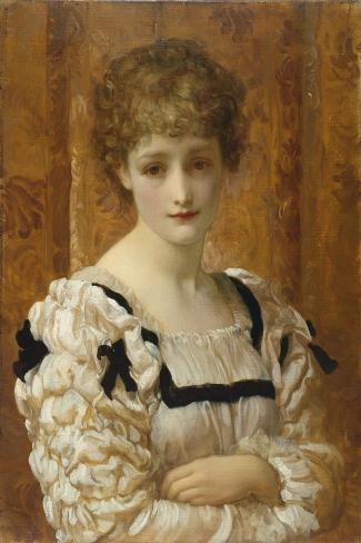Bianca, C.1881-Frederick Leighton-Stretched Canvas Print