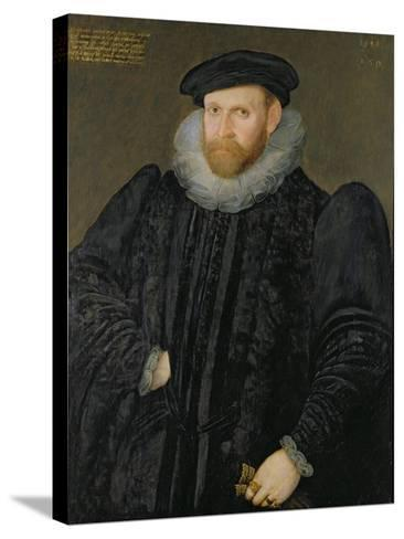 Sir Edward Grimston (1529-1610) as a Young Man-Robert, the Elder Peake-Stretched Canvas Print