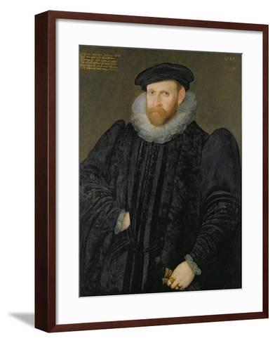 Sir Edward Grimston (1529-1610) as a Young Man-Robert, the Elder Peake-Framed Art Print