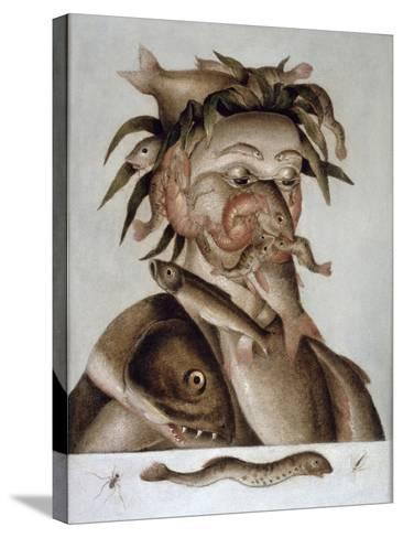 An Allegory of Water-Giuseppe Arcimboldo-Stretched Canvas Print
