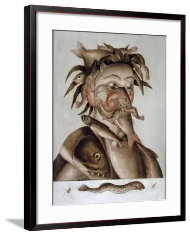 An Allegory of Water-Giuseppe Arcimboldo-Framed Art Print