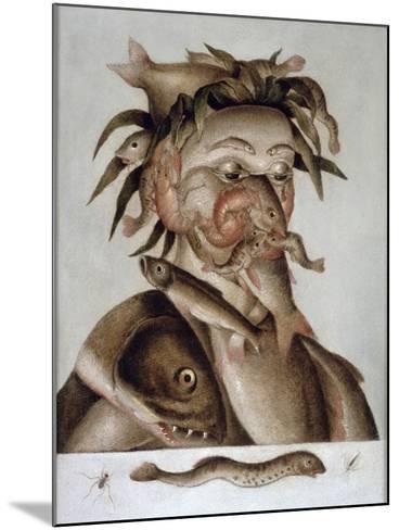 An Allegory of Water-Giuseppe Arcimboldo-Mounted Giclee Print